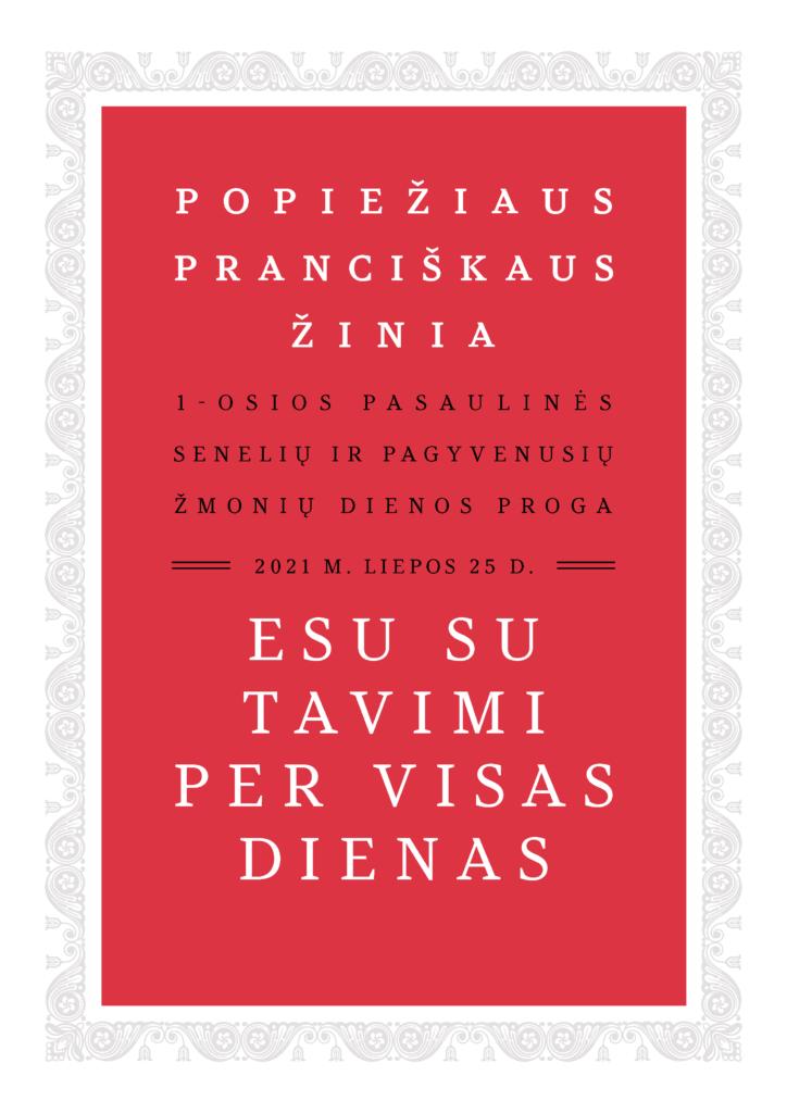 Popiežiaus laiškas seneliams